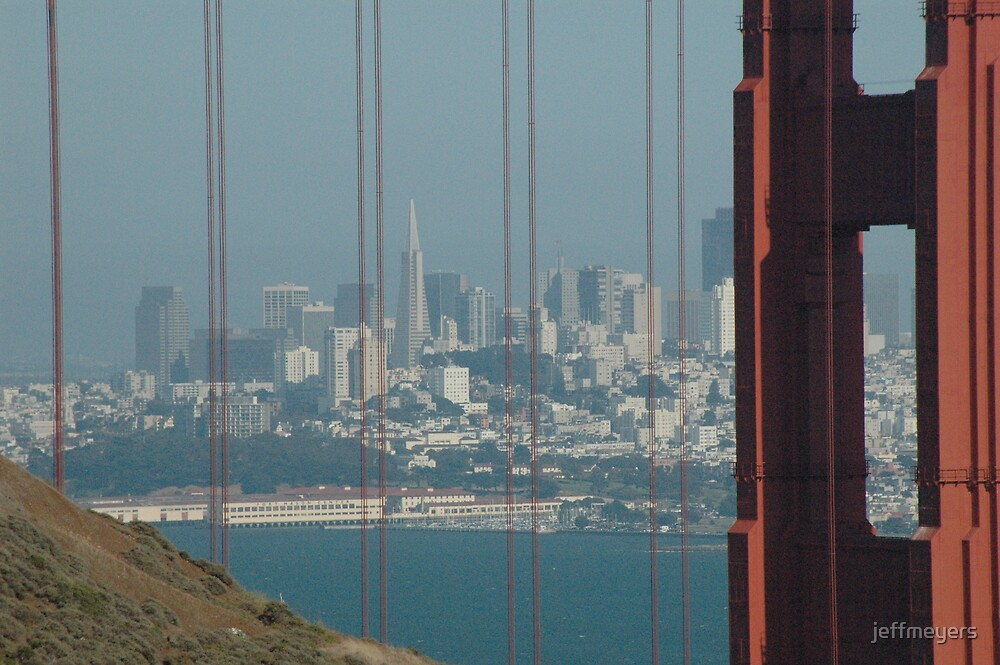 San Francisco through the Golden Gate by jeffmeyers