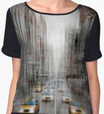 City-Art NYC 5th Avenue Traffic Women's Chiffon Top