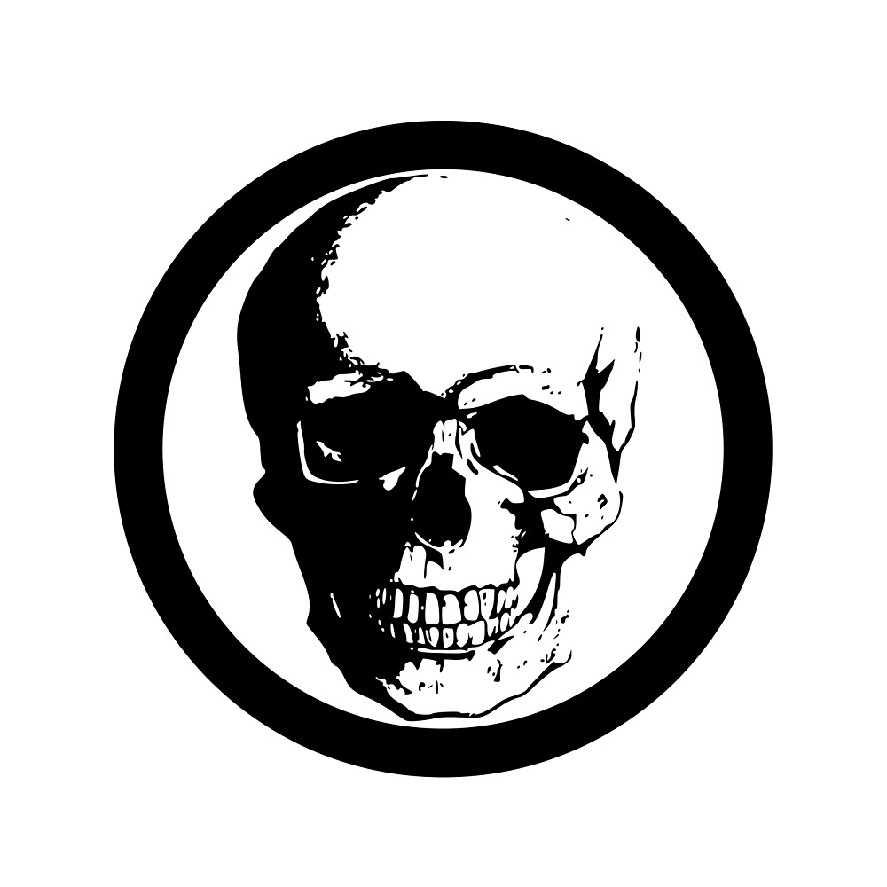 BLACK CIRCLE SKULL by DimiluxeDesign