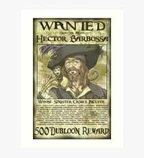 GESUCHT - Hector Barbossa Kunstdruck