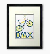 BMX (Blue & Yellow) Framed Print