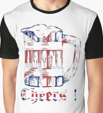 English Beer Glass Graphic T-Shirt