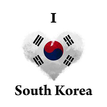 I Love South Korea Digital Art by KarimStudio