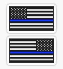 Thin Blue Line Flag Patch Sticker