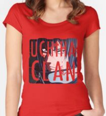 Uchiha Clan Logo Women's Fitted Scoop T-Shirt