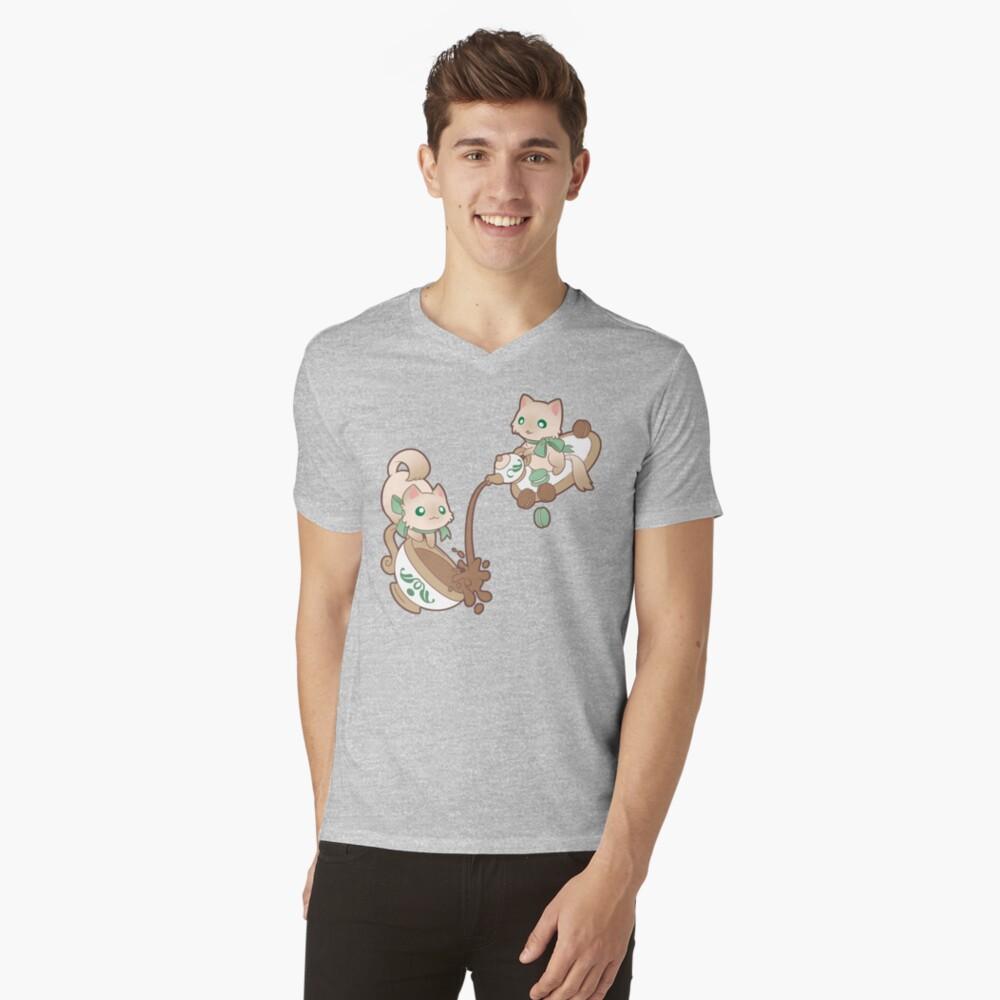 Tiempo de Kittea Camiseta de cuello en V