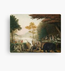 Edward Hicks - A Peaceable Kingdom Canvas Print