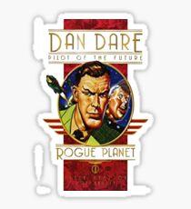 Dan dare retro comic book hero Sticker