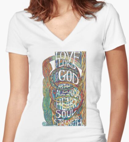 Love The Lord Women's Fitted V-Neck T-Shirt