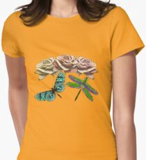 Butterly, Dragonfly and Roses T-Shirt