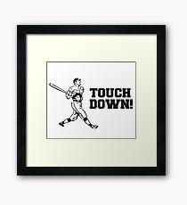 Touchdown Homerun Baseball Football Sports Framed Print