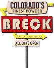 BRECK BRECKENRIDGE COLORADO SKIING SKI MOTEL SIGN by MyHandmadeSigns