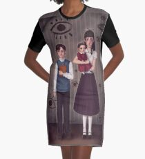 A Series of Unfortunate Events ~The Baudelaires Orphans ! Graphic T-Shirt Dress