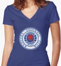 Glasgow Rangers - Football Women's Fitted V-Neck T-Shirt