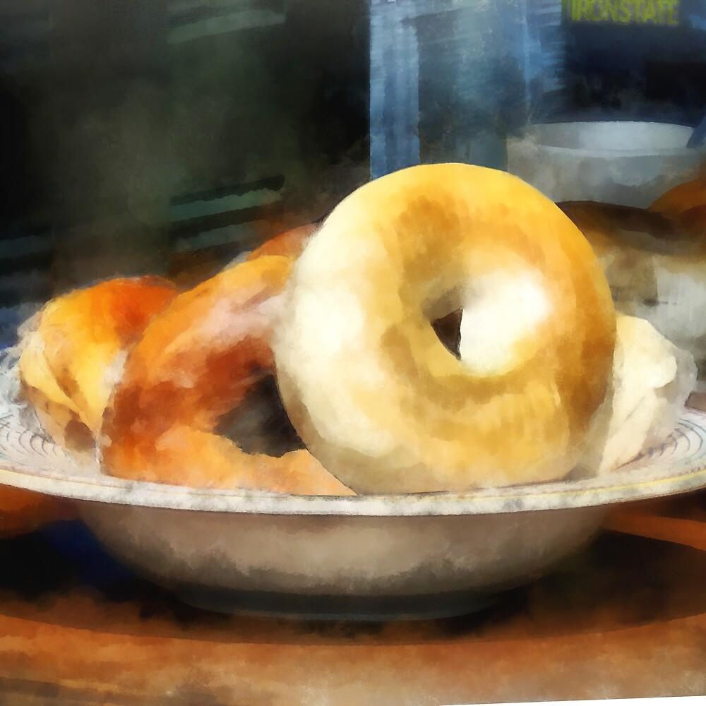 Food - Bagels for Sale by Susan Savad