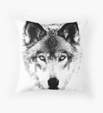 Wolf Face. Digital Wildlife Image. Dekokissen