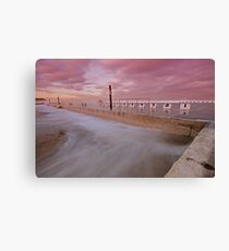 Merewether Baths at Dusk 5 Canvas Print