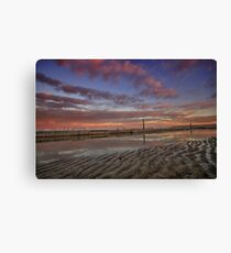 Merewether Baths at Dusk 6 Canvas Print