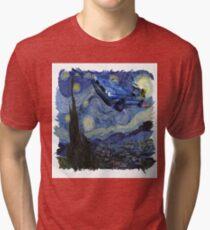 Starry Night Delorean Tri-blend T-Shirt