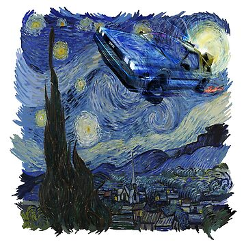 Starry Night Delorean by UnionTee