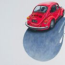 Red Beetle, Pencil on paper, 43x50cm, 2013. by Jason Moad