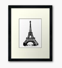 Eiffel Tower Digital Engraving Framed Print