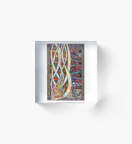 Magnificat Acrylic Block