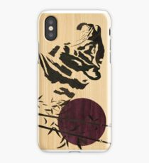 Japanese style tiger of wood marquetry iPhone Case/Skin