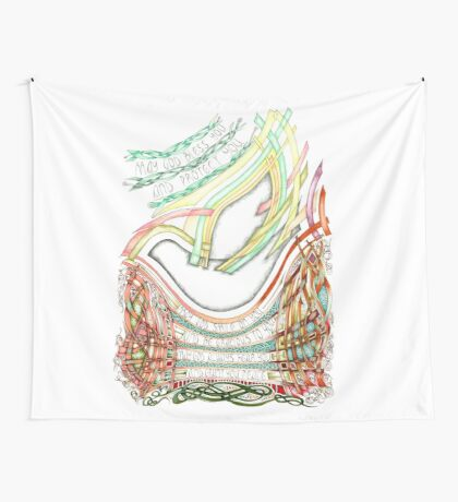 May God Smile Wall Tapestry