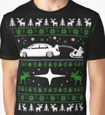 Christmas  Subaru Ugly Christmas Graphic T-Shirt
