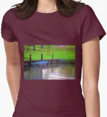 Rowboat in Autumn Womens Fitted T-Shirt