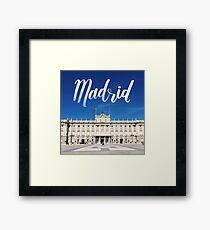Madrid, Spain Palace   Calligraphy Hand Lettering Framed Print