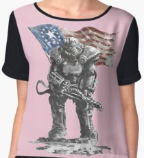 Fallout power armour suit Chiffon Top