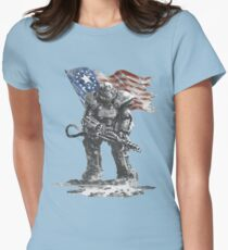 Fallout power armour suit Womens Fitted T-Shirt