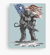Fallout power armour suit Canvas Print