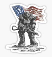 Fallout power armour suit Sticker