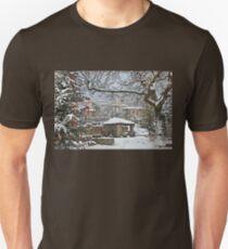 Snowing in Koryschades - Evrytania, Greece T-Shirt