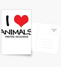 I love animals (they're delicious) Postcards
