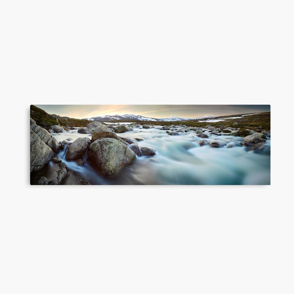 Snowy River Sunset, Mt Kosciuszko, New South Wales, Australia Canvas Print