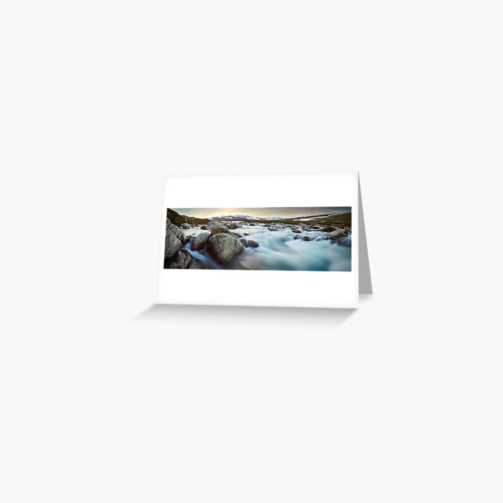 Snowy River Sunset, Mt Kosciuszko, New South Wales, Australia Greeting Card