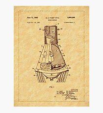 1963 Space Capsule Patent Photographic Print