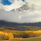 Mountain in the clouds by Linda Sparks