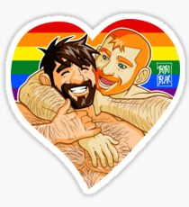 GAYPRIDE - ADAM AND BEN WRESTLING Sticker