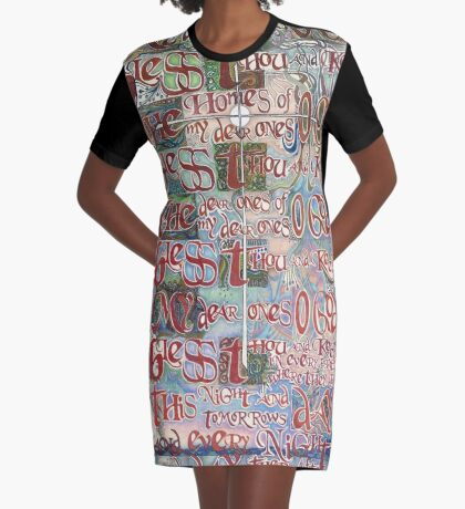 My Dear Ones Graphic T-Shirt Dress