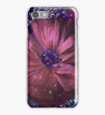 Smoky pink poppy in the dew iPhone Case/Skin