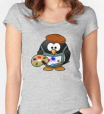 Painter Penguin Women's Fitted Scoop T-Shirt