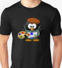 Painter Penguin Unisex T-Shirt