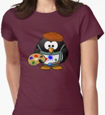 Painter Penguin Womens Fitted T-Shirt