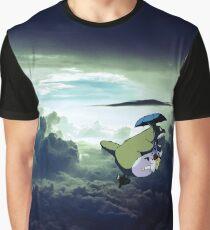 Flying Totoro Graphic T-Shirt