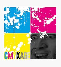 CMYKage - Nic Cage CMYK Photographic Print